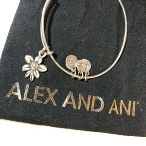 Flower Alex and ani bracelet